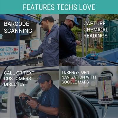 Service techs love the Evosus Mobile Service app.